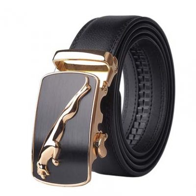 Automatic Buckle Cowhide Leather Belt for Men