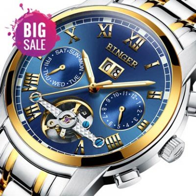 Mechanical Watch for Men Waterproof Sapphire Glass